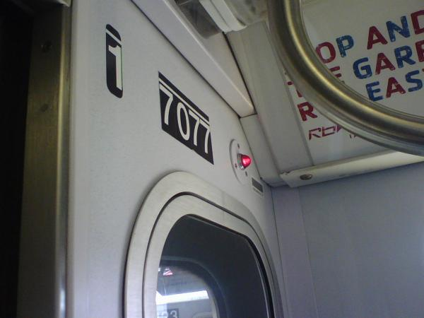 The subway car I rode today