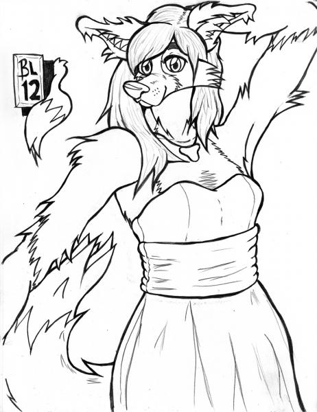 Border Collie A #2: Border Collie A again. She's gotten very... fluffy in this take. I kinda like it. Still tweaking.