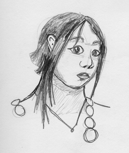 Quick face: Quick sketch of a face.