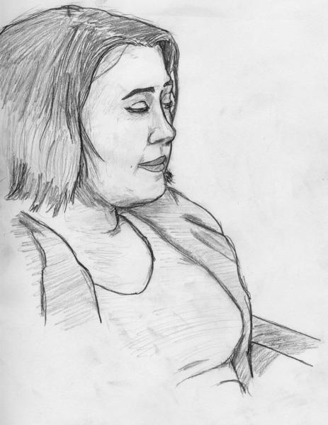 Girl (I forget, please forgive me!): Central Park Sketch Group