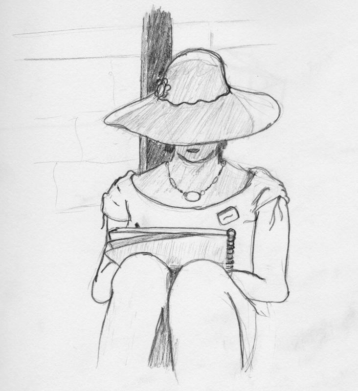 Lady Drawing Subwayfoxnet