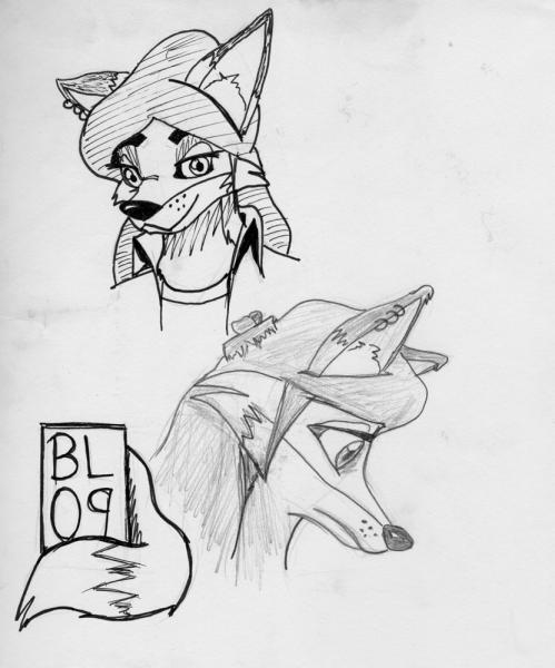 """Page o' Foxes: Random page from sketchbook, so I figure it belongs under """"sketchbook"""".  I quite like it, for some reason."""